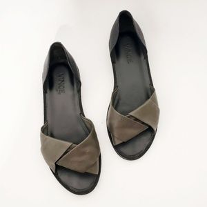 Vince Leather Idara Twisted D' Orsay black Flats